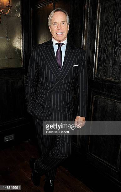 Designer Tommy Hilfiger attends as Tommy Hilfiger hosts a cocktail party to celebrate the launch of London Collections Men at The Scotch of St James...