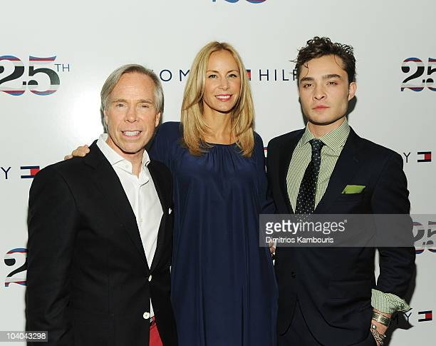 Designer Tommy Hilfiger Dee Hilfiger and Ed Westwick attend the Tommy Hilfiger Spring 2011 Men's and Women's show during MercedesBenz fashion week at...