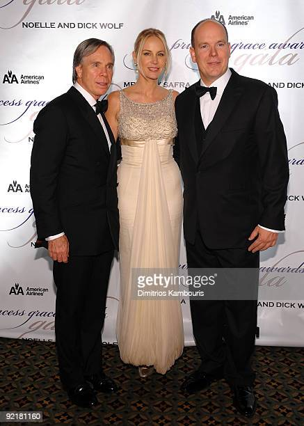 Designer Tommy Hilfiger Dee Ocleppo and HSH Prince Albert II of Monaco attend the 2009 Princess Grace Awards Gala at Cipriani 42nd Street on October...