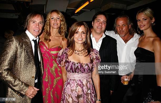 Designer Tommy Hilfiger Dee Ocleppo Andy Hilfiger Susie Hilfiger designer Mark Baker and model Vicky Andren pose during The Bratz Forever Diamondz...