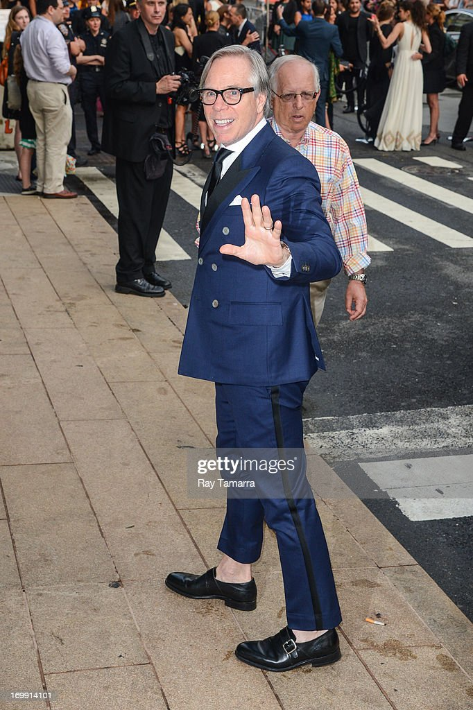 Designer Tommy Hilfiger enters the 2013 CFDA Fashion Awards on June 3, 2013 in New York, United States.