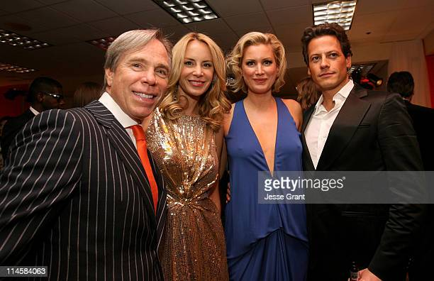 Designer Tommy Hilfiger fiancee Dee Ocleppo actress Alice Evans and actor Ioan Gruffudd attend the 15th Annual Race to Erase MS at the Hyatt Regency...