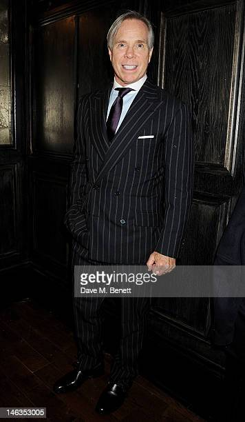 Designer Tommy Hilfiger hosts a cocktail party to celebrate the launch of London Collections Men at The Scotch of St James London on June 14 2012 in...