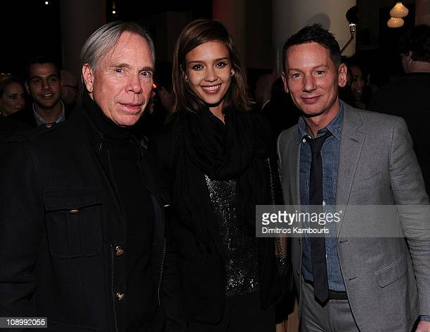 Designer Tommy Hilfiger Jessica Alba and GQ editorinchief Jim Nelson attend the Best New Menswear Designers in America Fall 2011 Collections...