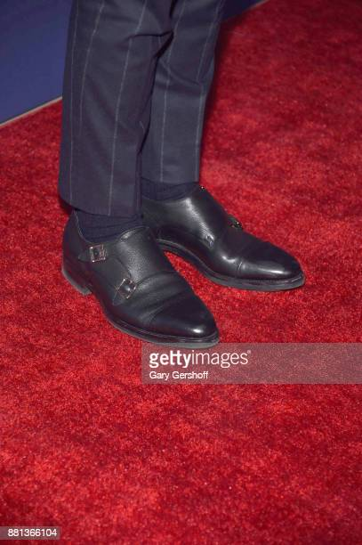 Designer Tommy Hifilger shoe detail attends the 31st FN Achievement Awards at IAC Headquarters on November 28 2017 in New York City