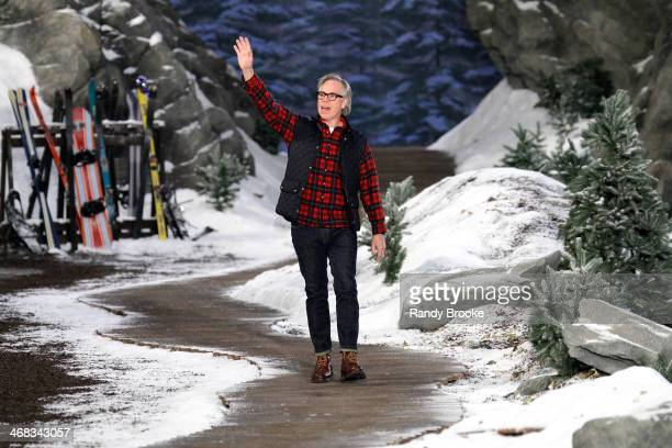 Designer Tommy Hilfiger walks the runway at Tommy Hilfiger Presents Fall 2014 Women's Collection at Park Avenue Armory on February 10 2014 in New...