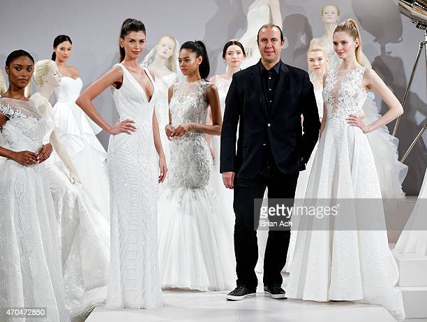 Designer Tony Ward is seen at A Toast To Tony Ward A Special Bridal Collection at Kleinfeld on April 20 2015 in New York City
