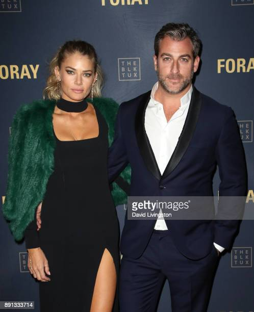 Designer Tori Praver and Mark Birnbaum attend FORAY Collective and The Black Tux Host Holiday Gala on December 12 2017 in Los Angeles California