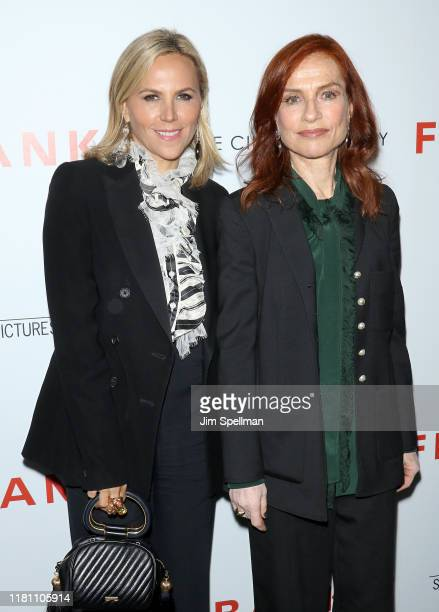 """Designer Tory Burch and actress Isabelle Huppert attend the special screening of """"Frankie"""" hosted by Sony Pictures Classics and The Cinema Society at..."""