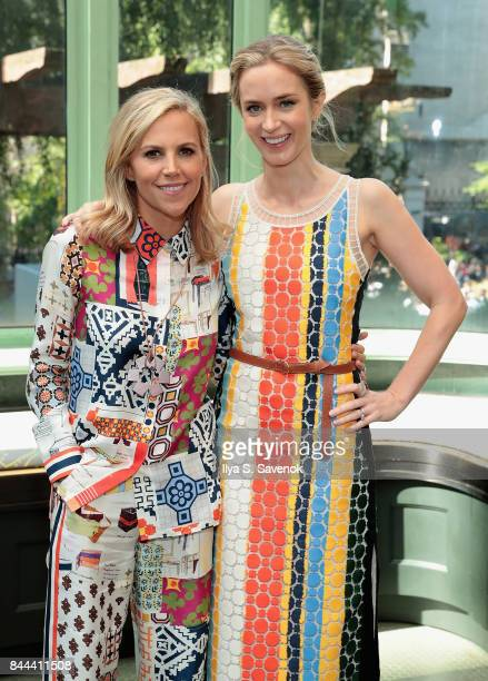 Designer Tory Burch and Emily Blunt attend the Tory Burch Spring Summer 2018 Fashion Show at Cooper Hewitt, Smithsonian Design Museum on September 8,...