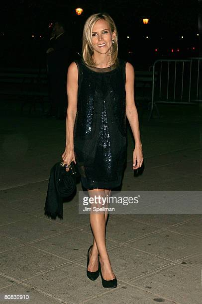 Designer Tory Burch arrives at the 7th Annual Tribeca Film Festival Vanity Fair Party at the State Supreme Courthouse on April 22 2008 in New York...