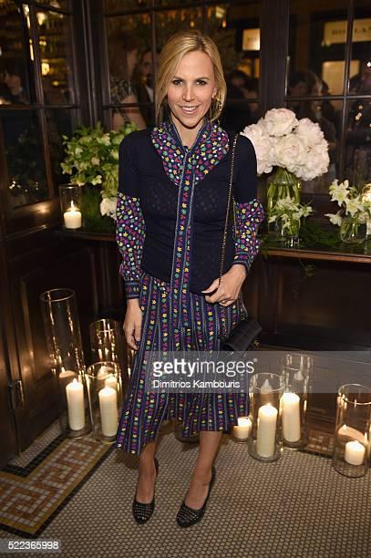 Designer Tory Burch attends CHANEL Tribeca Film Festival Artists Dinner Arrivals on April 18 2016 in New York City