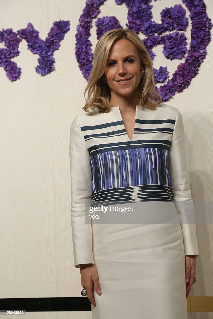 Designer Tory Burch attends Tory Burch flagship store opening ceremony at Kerry Center on October 29, 2014 in Shanghai, China.