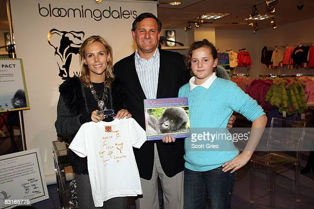 Designer Tory Burch, co-founder of the Tribeca Film Festival Craig Hatkoff and his daughter Isabella Hatkoff attend a reading of his new book...