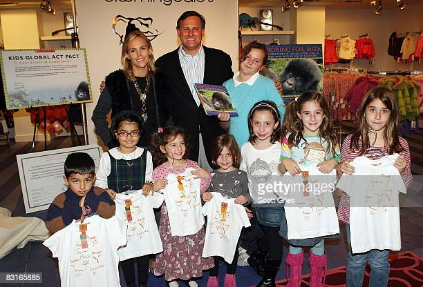 Designer Tory Burch, co-founder of Tribeca Film Festival Craig Hatkoff and his daughter Isabella Hatkoff pose for a photo following a reading of his...