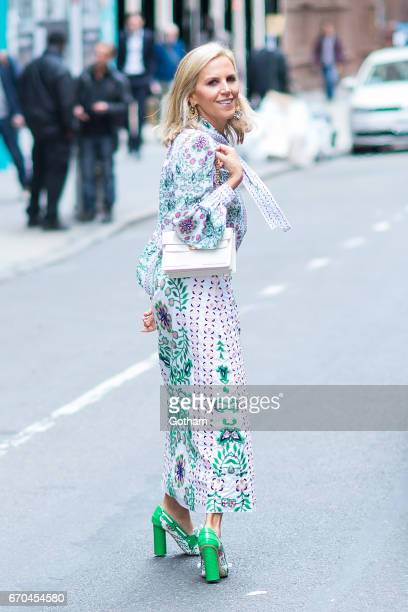 Designer Tory Burch is seen in Midtown on April 19, 2017 in New York City.