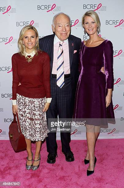 Designer Tory Burch Leonard Lauder and Chef Sandra Lee attend the 2015 BCRF Award Gala at The Waldorf=Astoria on October 29 2015 in New York City