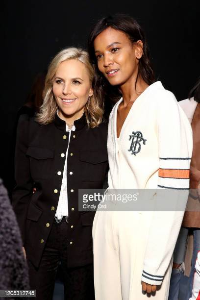 Designer Tory Burch poses with Liya Kebede backstage at the Tory Burch Fall Winter 2020 Fashion Show at Sotheby's on February 09, 2020 in New York...