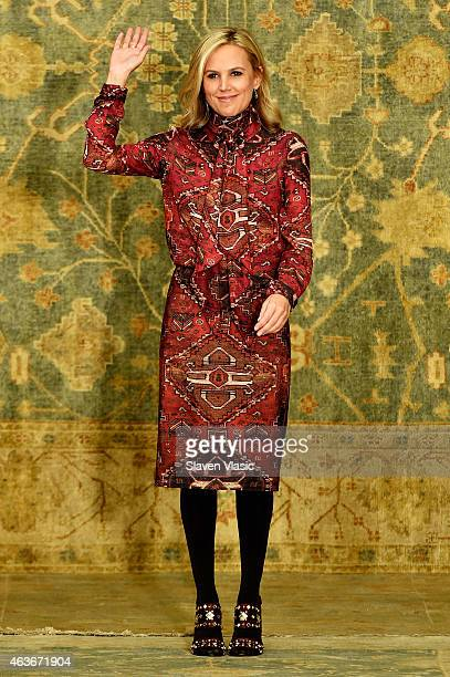 Designer Tory Burch walks the runway at the Tory Burch fashion show during Mercedes-Benz Fashion Week Fall 2015 at 583 Park Avenue on February 17,...