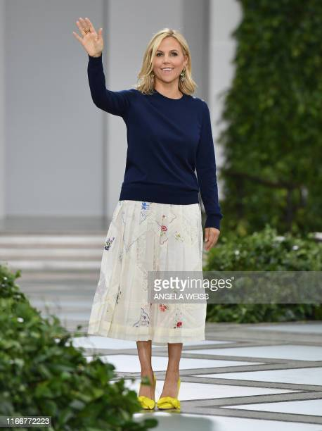 Designer Tory Burch walks the runway during her Spring/Summer 2020 show during New York Fashion Week: The Shows at the Brooklyn Museum on September...