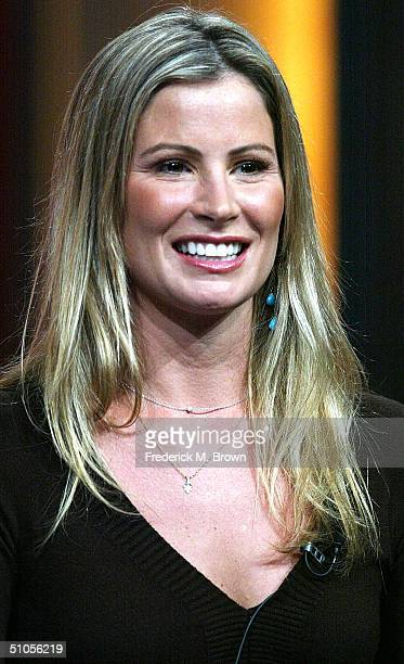 """Designer Tracy Hutson of """"Extreme Makeover: Home Edition"""" speak with the press at the ABC Summer TCA Press Tour - Day 2 at the Century Plaza Hotel on..."""