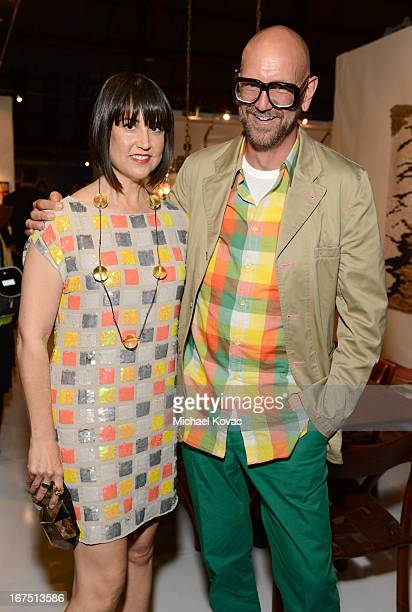 Designer Trina Turk and Jonathan Skow attend PS ARTS Presents LA Modernism Show Opening Night at The Barker Hanger on April 25 2013 in Santa Monica...