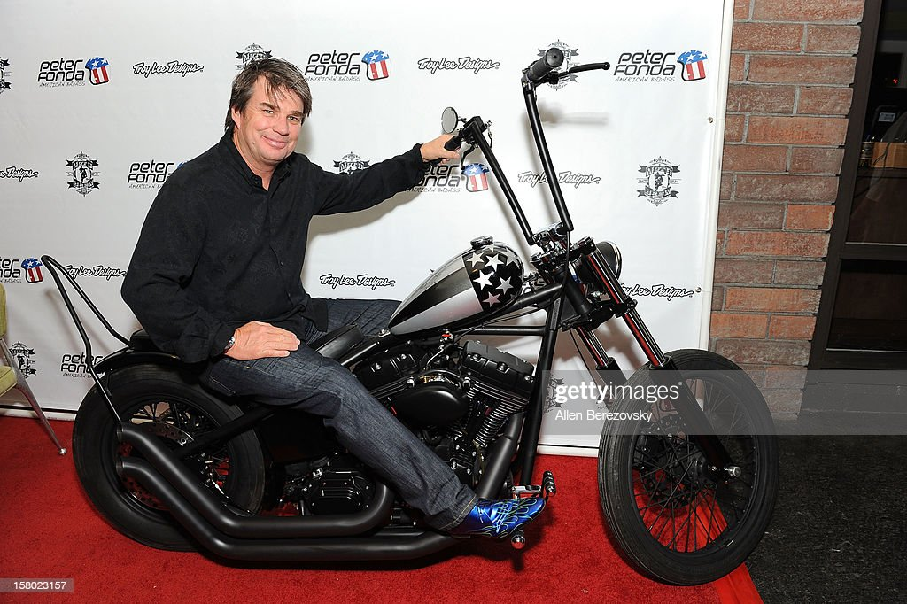 Designer Troy Lee attends the launch of Peter Fonda's new men's fashion line and protective riding gear collection for Troy Lee Designs at Troy Lee Boutique & Design Center on December 8, 2012 in Laguna Beach, California.