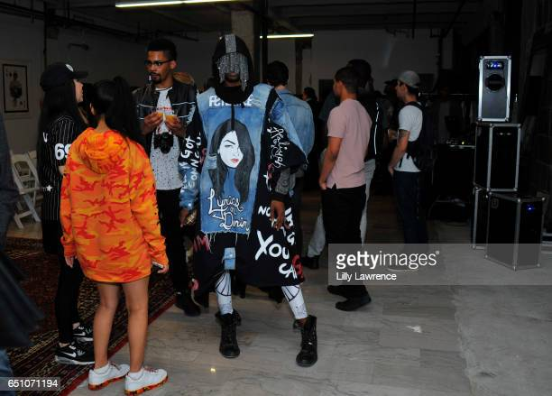Designer Tyce attends Karen Bystedt's 'Kings And Queens' exhibition on March 9 2017 in Los Angeles California