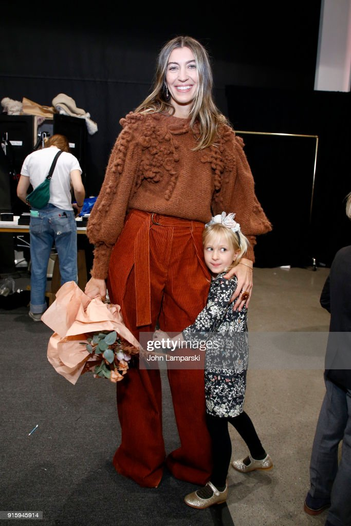 Designer Ulla Johnson poses backstage for Ulla Johnson during New York Fashion Week: The Shows at Gallery II at Spring Studios on February 8, 2018 in New York City.