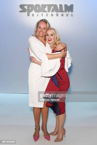 Designer Ulli Ehrlich and Silvia Schneider attend the Sportalm Kitzbuehel show during the Berlin Fashion Week Spring/Summer 2019 at ewerk on July 4...