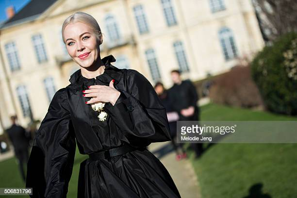 Designer Ulyana Sergeenko attends the Dior Couture show at Musee Rodin on January 25 2016 in Paris France