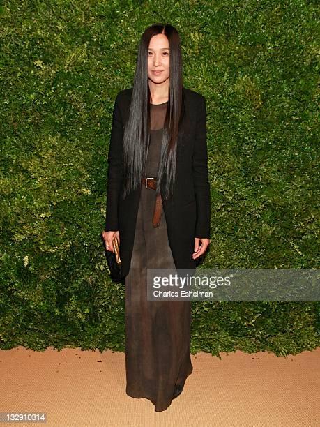 8bcb5b69ec5 Designer Uma Wang attends the 8th Annual CFDA Vogue Fashion Fund Awards at  the Skylight