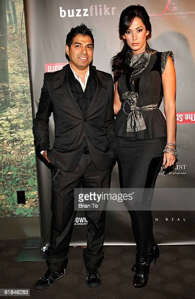 Designer Uriel Saenz and Catalina Lopez attend FGILA Hosts Downtown LA Fashion Week Kick Off Cocktail Party at The Standard Hotel on October 12 2009...