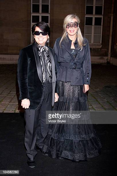 Designer Valentin Yudashkin and his wife attend the Vogue 90th Anniversary Party as part of Ready to Wear Spring/Summer 2011 Paris Fashion Week at...