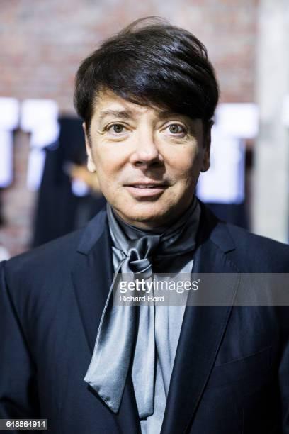 Designer Valentin Yudashkin poses backstage before the Valentin Yudashkin show as part of the Paris Fashion Week Womenswear Fall/Winter 2017/2018 on...