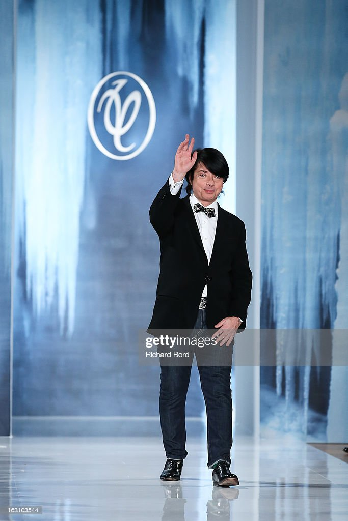 Designer Valentin Yudashkin walks the runway during the Valentin Yudashkin Fall/Winter 2013 Ready-to-Wear show as part of Paris Fashion Week at Hotel Westin on March 4, 2013 in Paris, France.
