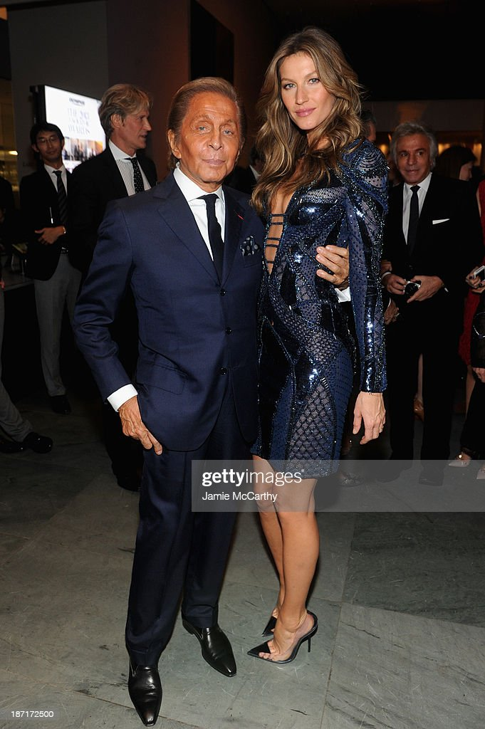 Designer Valentino and model Gisele Bündchen attend the WSJ. Magazine's 'Innovator Of The Year' Awards 2013 at The Museum of Modern Art on November 6, 2013 in New York City.
