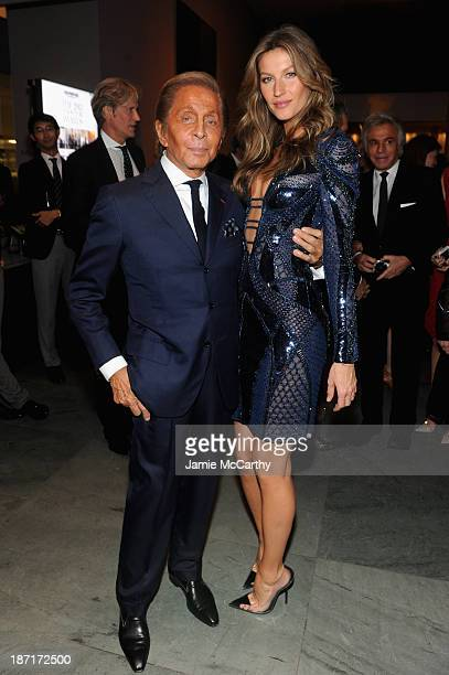 Designer Valentino and model Gisele Bündchen attend the WSJ Magazine's 'Innovator Of The Year' Awards 2013 at The Museum of Modern Art on November 6...