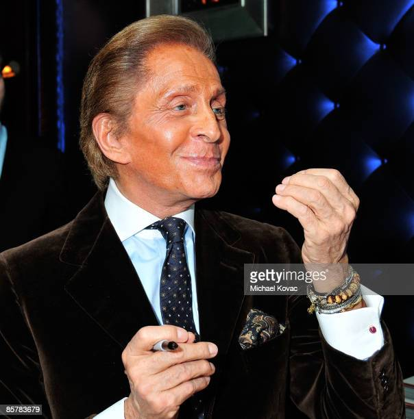 Designer Valentino at the book signing of 'Valentino A Grand Italian Epic' at Taschen on April 2 2009 in Beverly Hills California