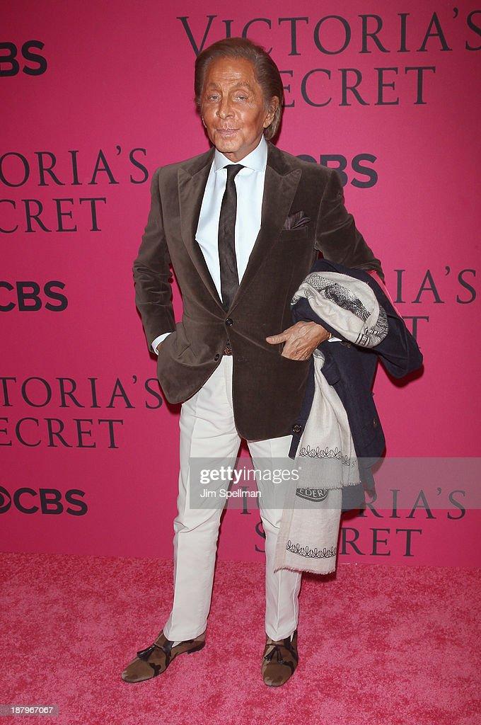 Designer Valentino attends the 2013 Victoria's Secret Fashion Show at Lexington Avenue Armory on November 13, 2013 in New York City.