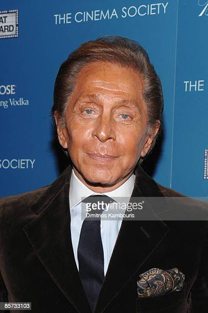 Designer Valentino attends The Cinema Society and Brooks Brothers screening of The Great Buck Howard at the Tribeca Grand Screening Room on March 10...