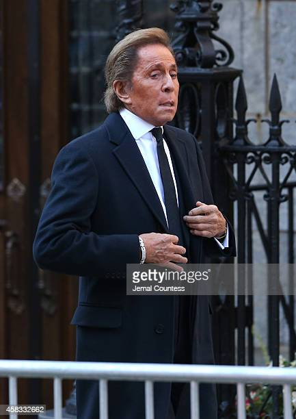 Designer Valentino attends the funeral of fashion designer Oscar De La Renta at St Ignatius Of Loyola on November 3 2014 in New York City