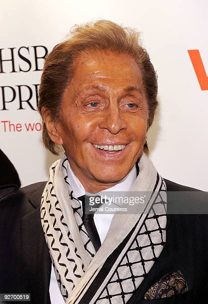 """Designer Valentino attends the """"Valentino: The Last Emperor"""" DVD launch celebration at The Standard on November 3, 2009 in New York City."""