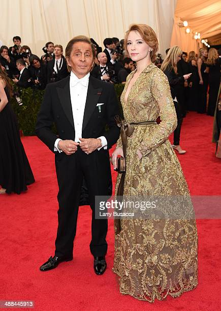 Designer Valentino Garavani and actress Haley Bennett attend the 'Charles James Beyond Fashion' Costume Institute Gala at the Metropolitan Museum of...