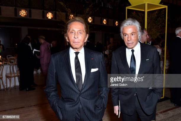 Designer Valentino Garavani and Giancarlo Giammetti attends the New York City Ballet 2017 Spring Gala at David H Koch Theater Lincoln Center on May 4...