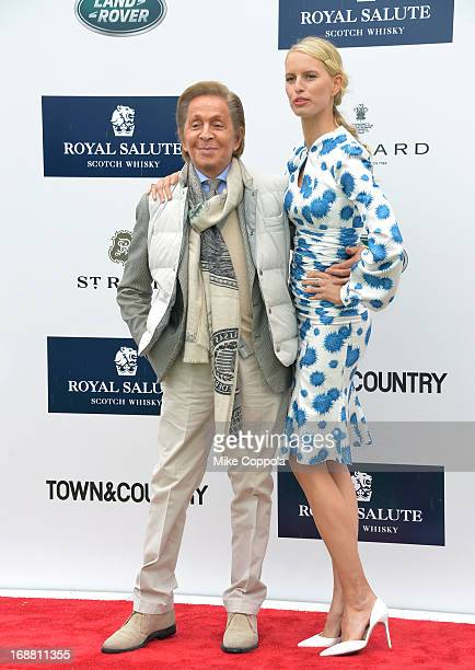 Designer Valentino Garavani and Model Karolina Kurkova attend the Sentebale Royal Salute Polo Cup at The Greenwich Polo Club on Wednesday 15th May...