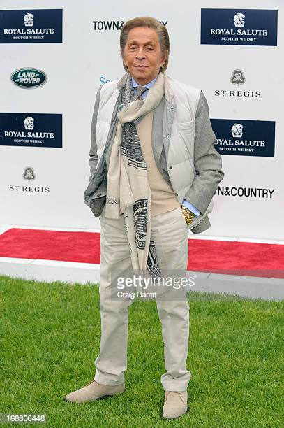 Designer Valentino Garavani at the 2013 Sentebale Royal Salute Polo Cup at the Greenwich Polo Club where Land Rover is the Official Team Sponsor on...