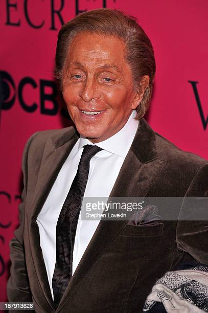 Designer Valentino Garavani attends the 2013 Victoria's Secret Fashion Show at Lexington Avenue Armory on November 13 2013 in New York City