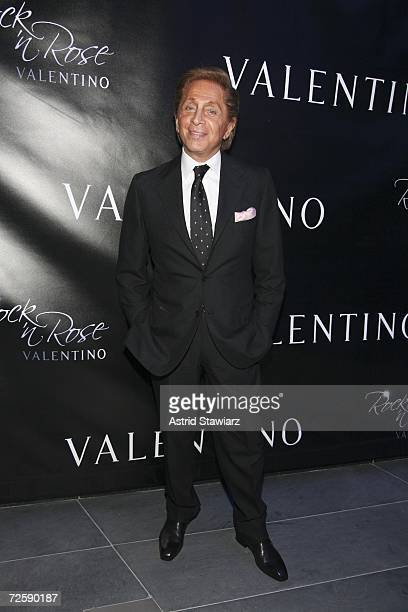 "Designer Valentino Garavani attends the launch of his ""Rock'n Rose"" Fragrance on November 16, 2006 in New York City."