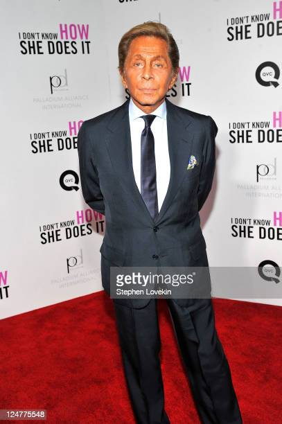 Designer Valentino Garavani attends the premiere of The Weinstein Company's I Don't Know How She Does It Premiere sponsored by QVC Palladium Jewelry...